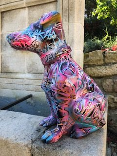Sculpture Gina taguée noire