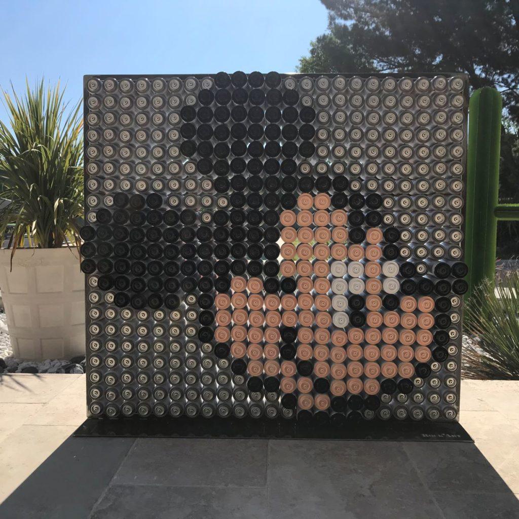 Mickey réalisé en bombes de peintures par Dominique CAPOCCI